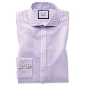 Charles Tyrwhitt Extra Slim Purple Stripe Shirt